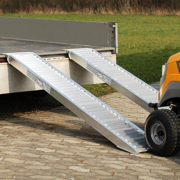 Rails amovibles en aluminium sans rebords pour pneus chenilles