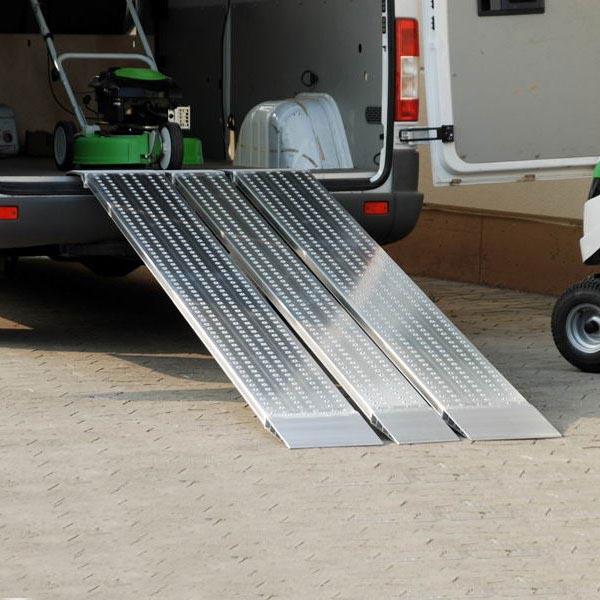 Paire de rails de chargement en aluminium (L=2485mm x l=405mm)
