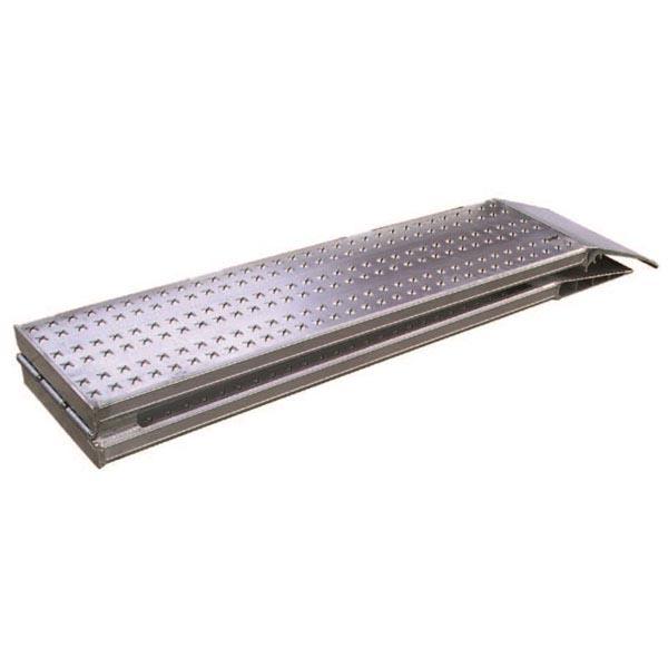 Paire de rails repliables en aluminium  (L=3025mm / l utile=200mm)