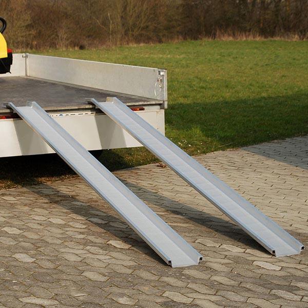 Paire de rails de chargement en aluminium (L= 1000 / l=155 mm)