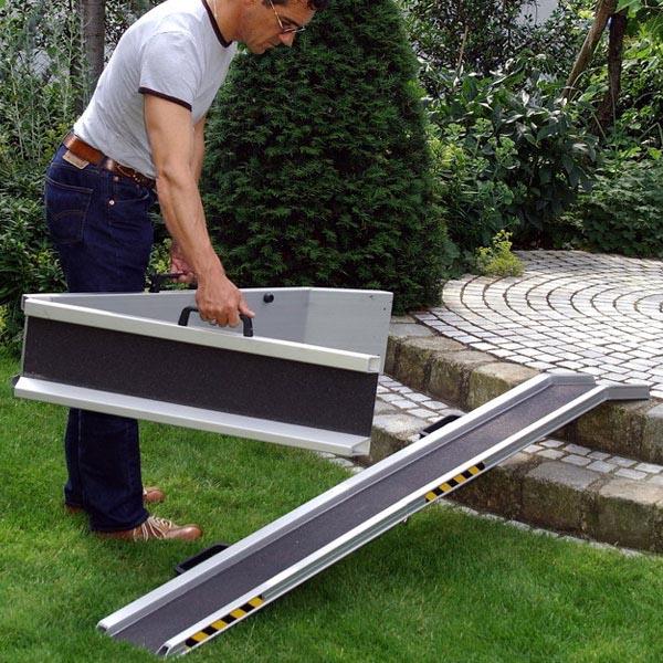 Paire de rails amovibles repliables 2000mm avec poignées & rebords 42 mm