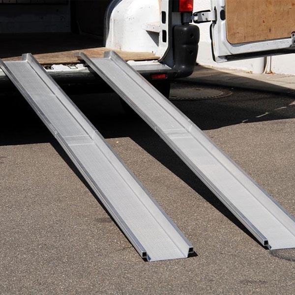 Rails repliables L= 3000mm en aluminium en 2 parties / la paire