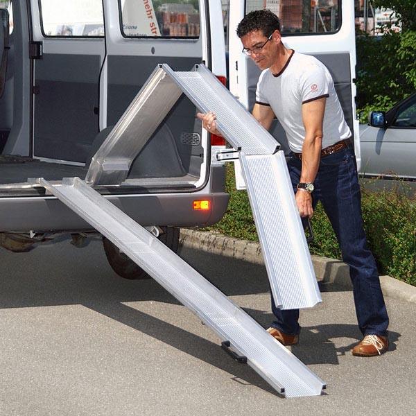 Rails repliables aluminium en 3 parties (la paire)