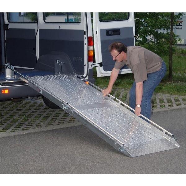 Rampe fixe repliable en alu (L=2400 mm x l utile=800 mm)