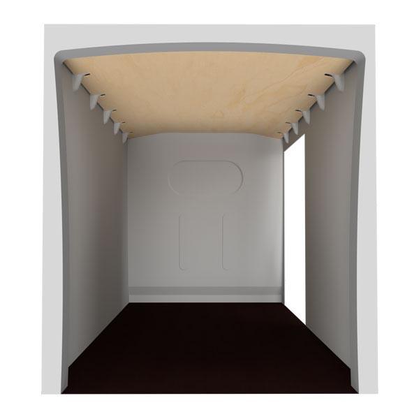 Plafond contreplaqué brut