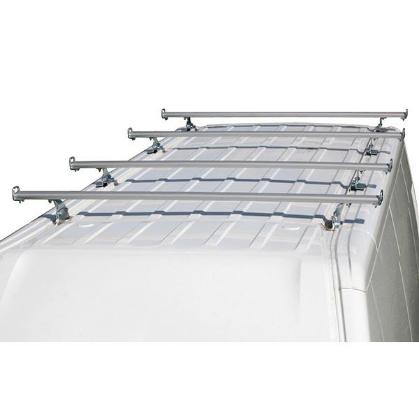 Jeu de 4 barres de toit en aluminium