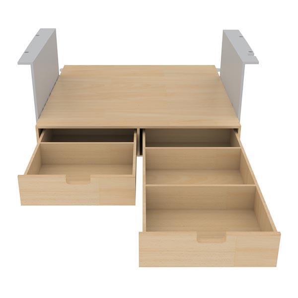 Double plancher arrière