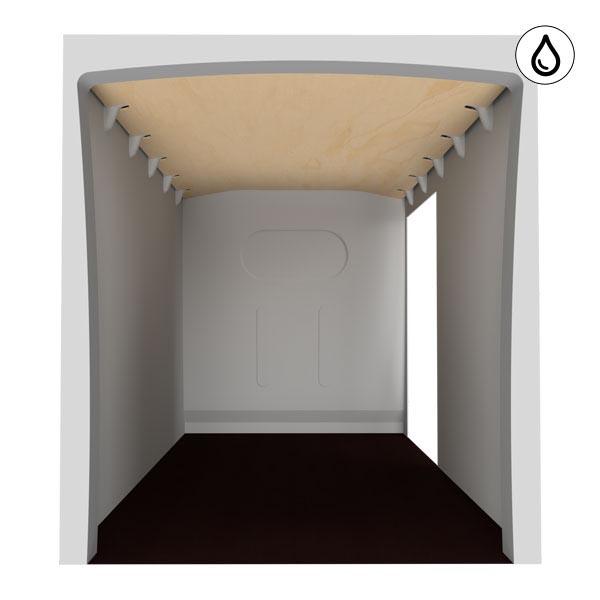 Plafond contreplaqué vernis