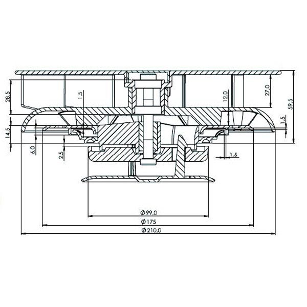 Aérateur de toit à ventilation permanente autogire