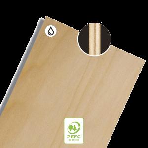 latéraux bois verni