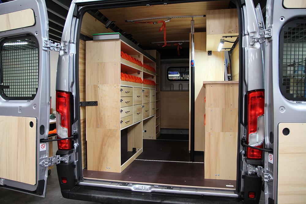 aménagement bois optipro Peugeot Boxer
