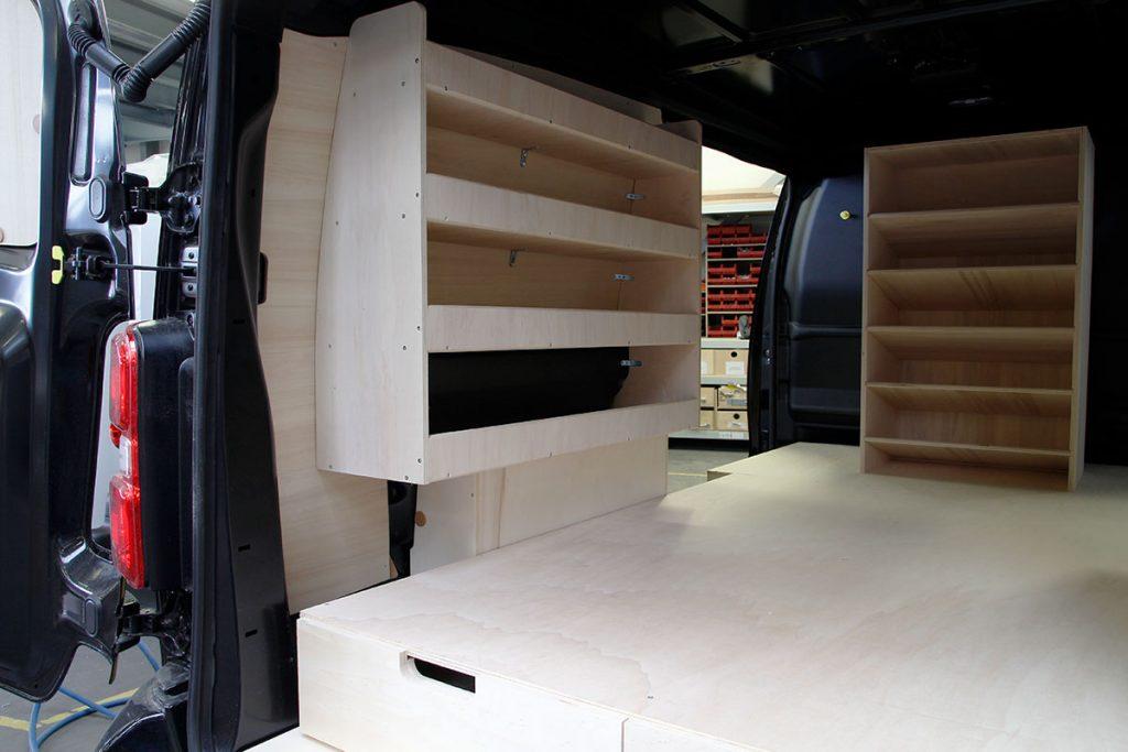 Peugeot expert casier rangement bois
