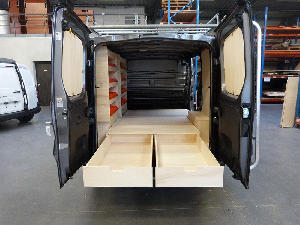 Renault trafic double plancher arrière